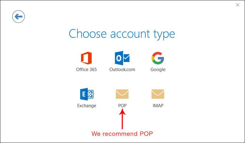 IMAP / POP step 5